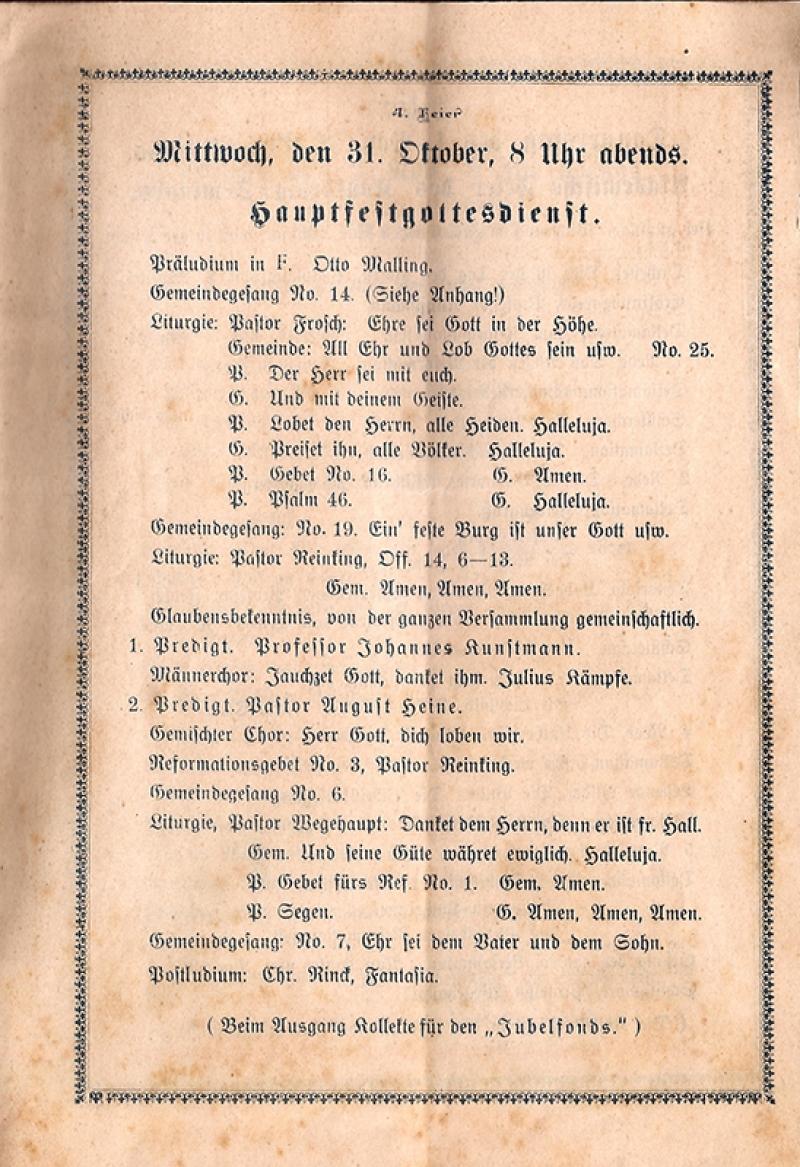 Programa do dia 31.10.1917, 18h