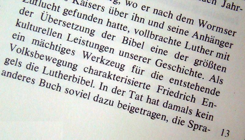 Texto em alemão